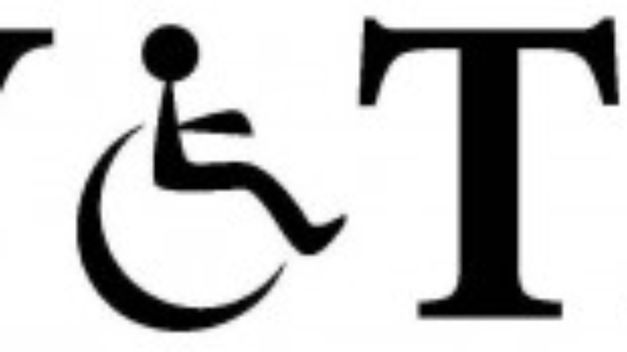 Image saying VOTE with O being an image of a person in a wheelchair