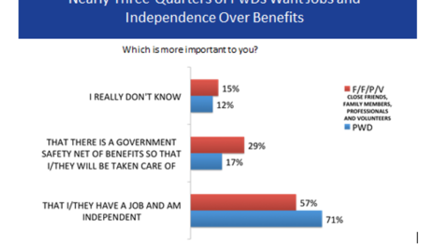 Nearly Three-Quarters of PwDs want Jobs and Independence over Benefits
