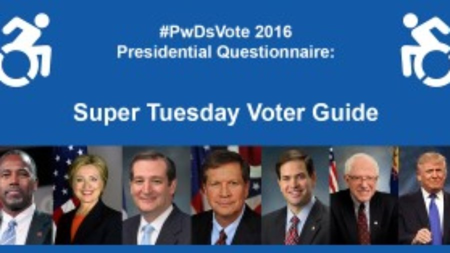 #PwDsVote Super Tuesday Voter Guide