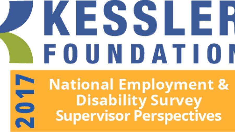 Graphic Text: Kessler Foundation 2017 National Employment Disability Survey Supervisor Perspective