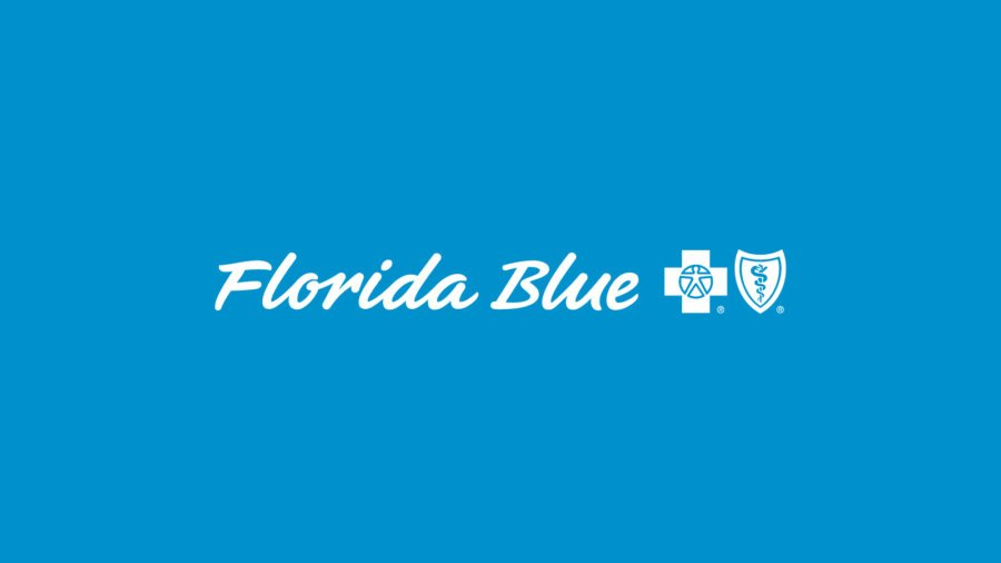 Florida Blue logo on a blue background