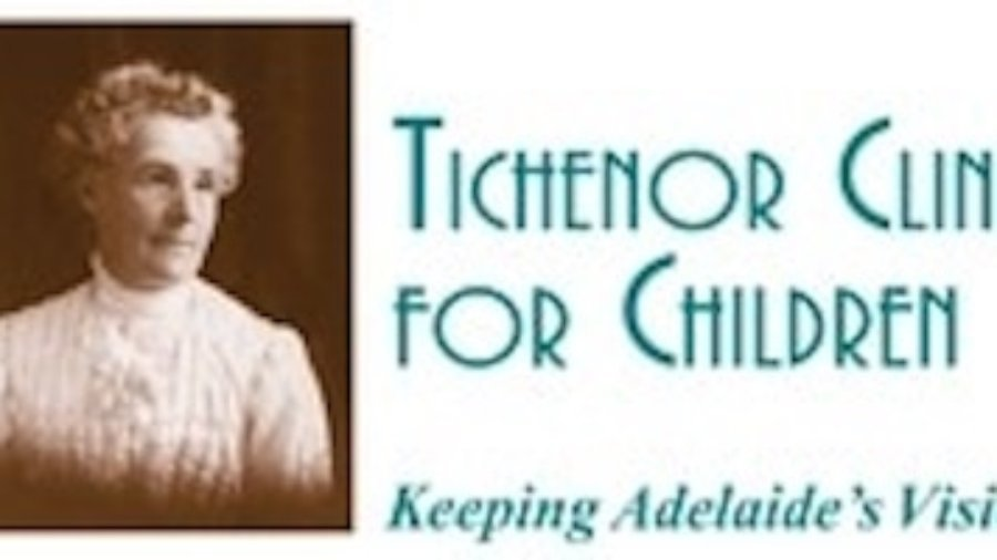 Tichenor Clinic for Children's Logo. It includes the name of the organization, and the slogan