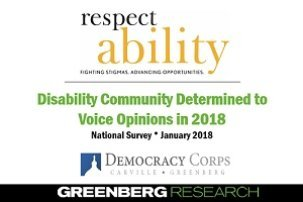 Results of New National Poll of Voters with and without Disabilities