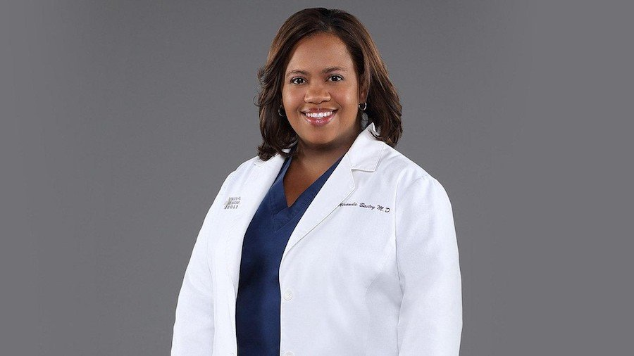 Photo of Chandra Wilson in costume as Dr. Miranda Bailey