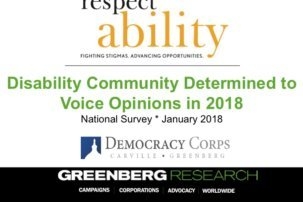 WEBINAR: Results of New National Poll of Voters with and without Disabilities