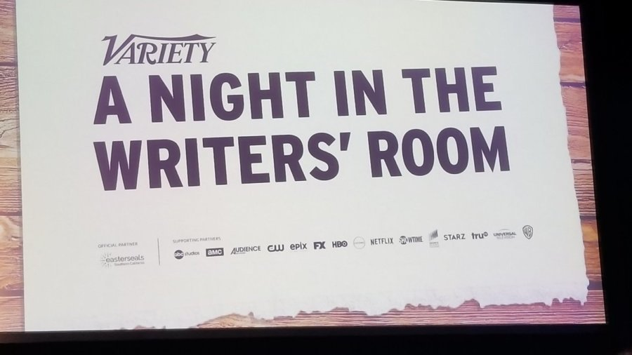 Text: Variety, A Night in the Writers' Room