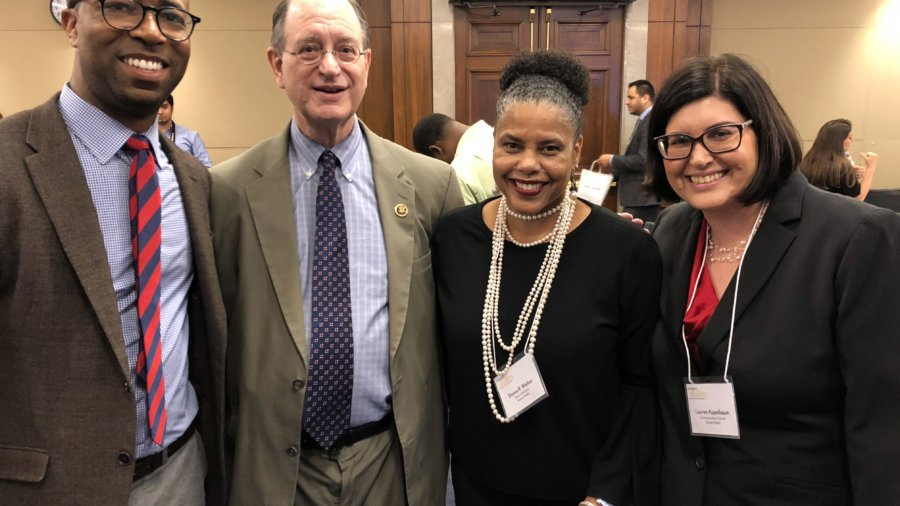RespectAbility Board Chair Calvin Harris, Rep. Brad Sherman, RespectAbility Board Member Donna Walton, RespectAbility Communications Director Lauren Appelbaum