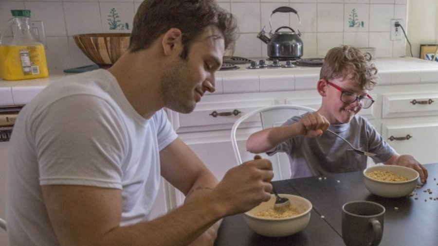 Ryan Guzman and Gavin McHugh eat cereal on the show 9-1-1 on Fox