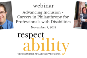 "Webinar: ""Advancing Inclusion – Careers in Philanthropy for Professionals with Disabilities"""