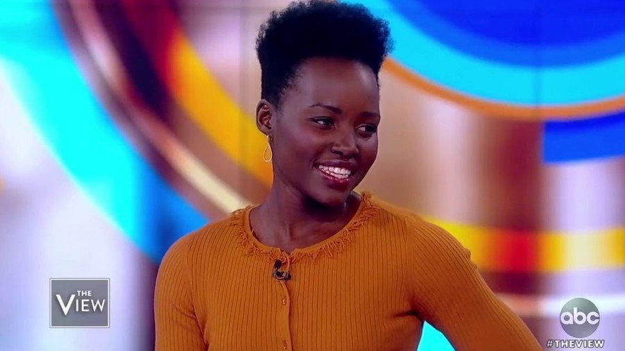 Lupita Nyong'o on the view, smiling