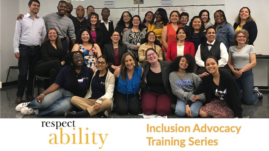 Attendees at RespectAbility's training for Latinas with disabilities. RespectAbility Inclusion Advocacy Training Series