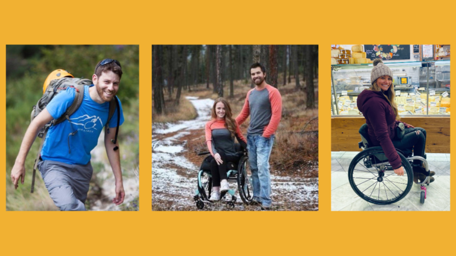 Photos of Omer Zur, Stella and Shannon Barnes, and Marcela Marañon, all of whom except for Shannon have disabilities.