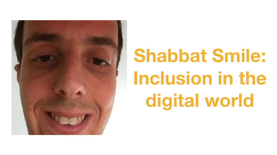 Headshot of Harel Chait smiling. Text: