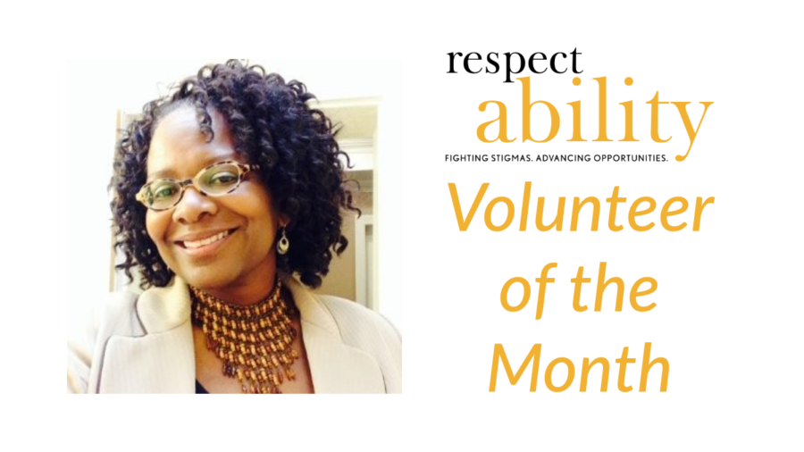 Headshot of Valora Blackson. RespectAbility Volunteer of the Month