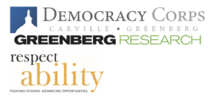 Logos for Democracy Corps, Greenberg Research and RespectAbility