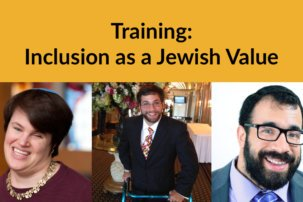 "Training: ""Inclusion as a Jewish Value"""