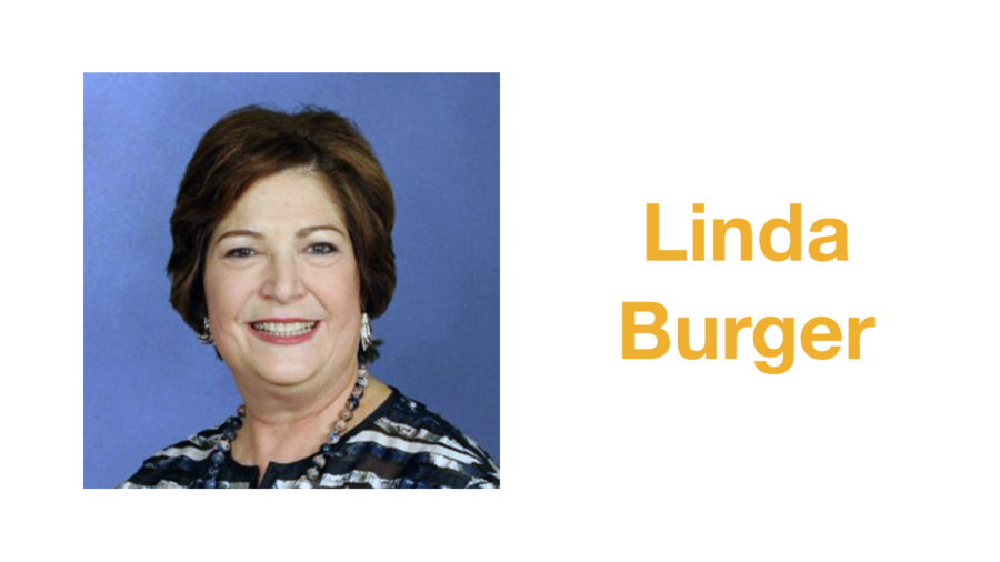 Linda Burger smiling headshot. Text: Linda Burger
