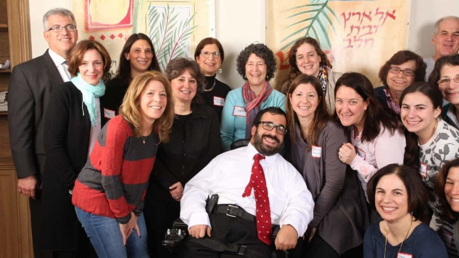 Matan Koch meets with the disability inclusion committee of Temple Beth Hillel-Beth El outside Philadelphia Pennsylvania a few years ago