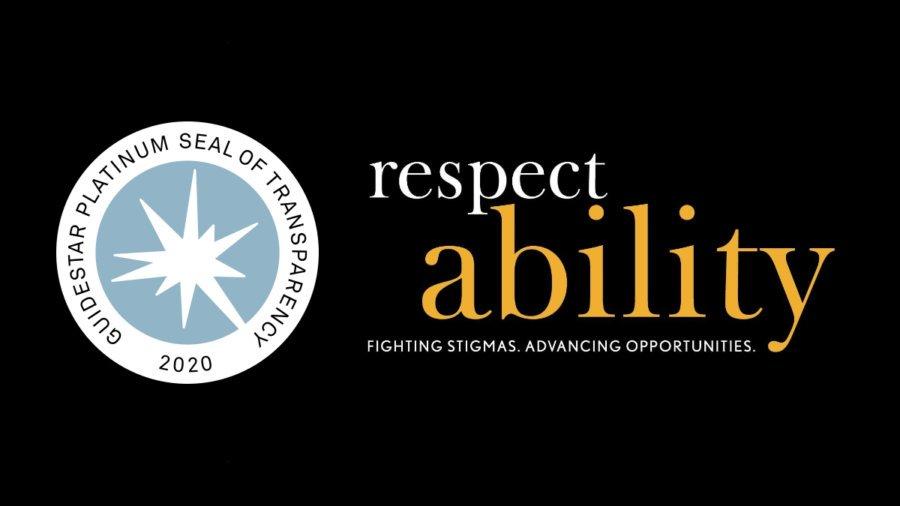 Guidestar Platinum Seal of Transparency 2020. RespectAbility logo