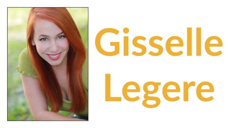 Gisselle Legere headshot smiling. Text: Gisselle Legere
