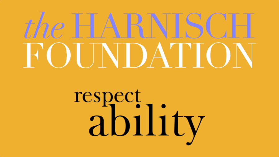 Logos for the Harnisch Foundation and RespectAbility