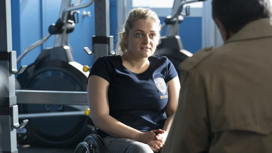 Ali Stroker as Detective Allison Mulaney in a scene from Blue Bloods on CBS