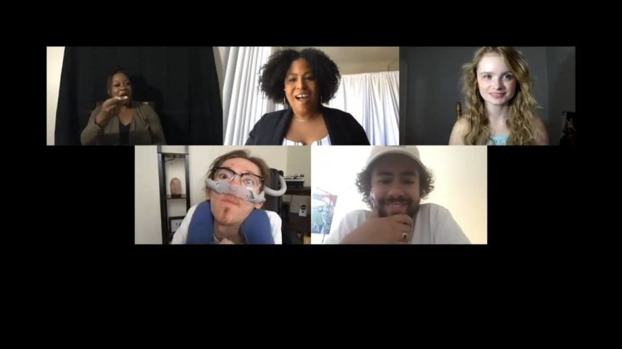 Four panelists and ASL interpreter on a Zoom webinar together