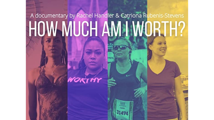 Poster for How Much Am I Worth featuring photos of the four women with disabilities profiled in the short film