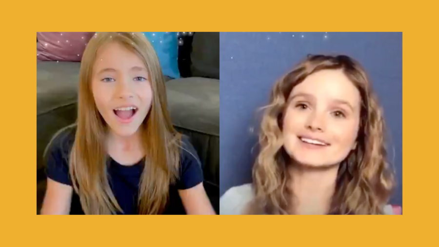 Screenshots of Kayla Cromer and Shaylee Mansfield's videos for Disney's campaign