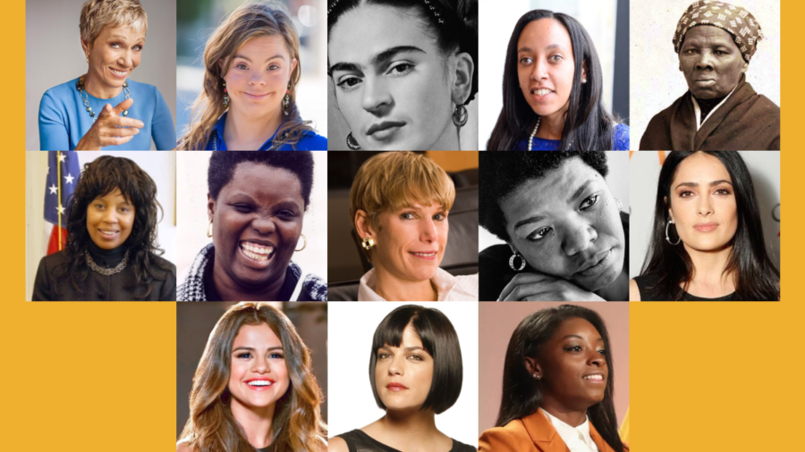 Headshots of 13 women with disabilities.