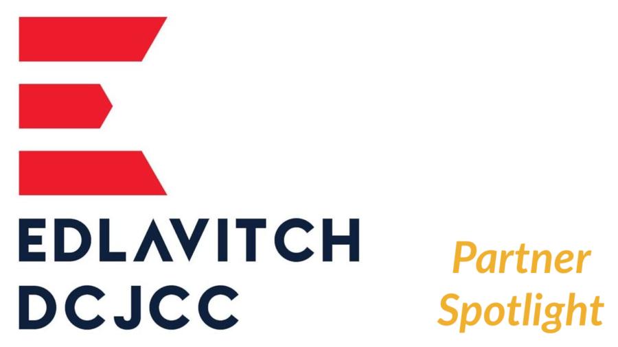 logo for Edlavitch DCJCC. Text: Partner Spotlight