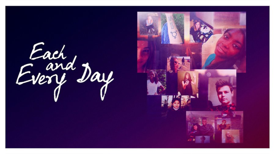 Each and Every day poster with photos of the teens featured in the documentary.