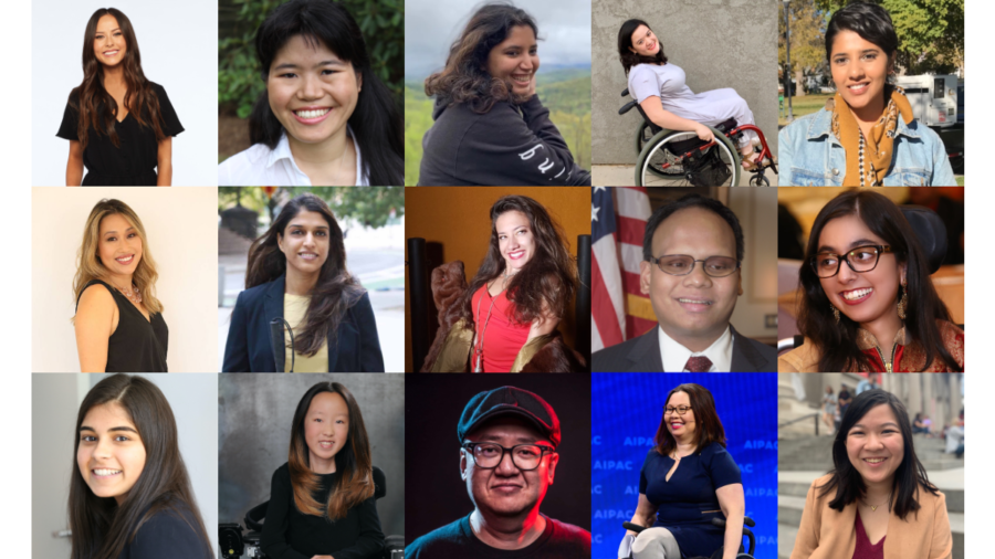 Headshots of 15 AAPI people with disabilities