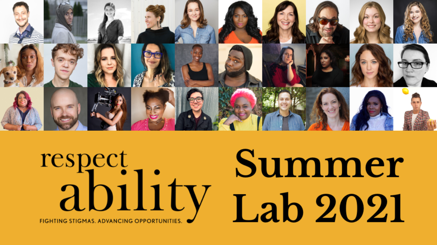 Headshots of 30 participants in RespectAbility's 2021 Summer Lab. RespectAbility logo. Text: Summer Lab 2021.