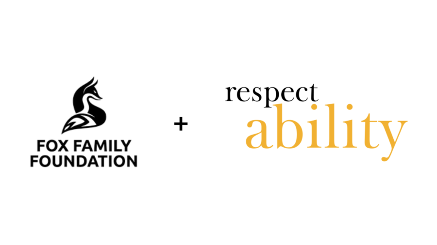 Logos for Fox Family Foundation and RespectAbility with a plus sign between them
