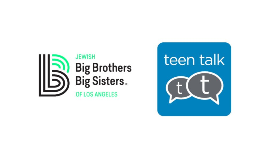 Jewish Big Brothers Big Sisters of Los Angeles logo next to icon for Teen Talk app