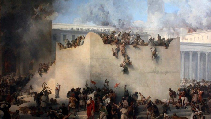 Francesco Hayez painting of the destruction of the Jewish temple