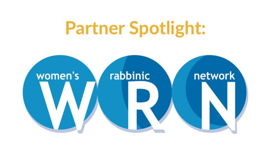 Logo for Women's Rabbinic Network (WRN). Text: Partner Spotlight
