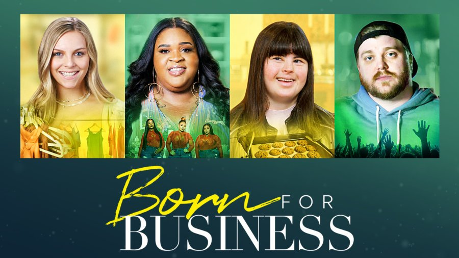 images of 4 disabled entrepreneurs and logo for Born For Business