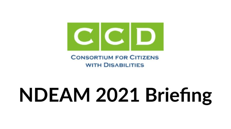 CCD logo. Text: NDEAM 2021 Briefing